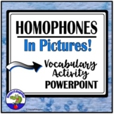 Homophones PowerPoint Vocabulary Activity