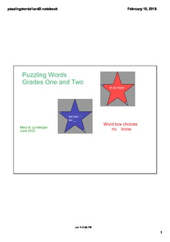 Homophones or Puzzling Words  using Smart Board