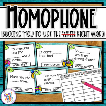 Homophones -  task cards or scoot game