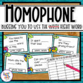 Homophones -  32 task cards for math center or  scoot game