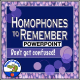Homophones PowerPoint - Frequently Confused Words