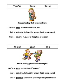 Homophones/Homonyms Mini Poster Sets