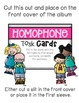 Homphone Task Card: Photo Book Version