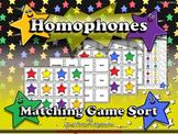 Homphones: Homophones Matching Game Sort - King Virtue's Classroom