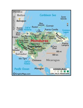 Honduras Map Scavenger Hunt