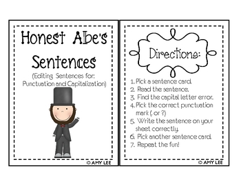 Honest Abe's Sentences (Sentence Editing)