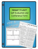 Honest Student Self Evaluation and Conference Teacher Form