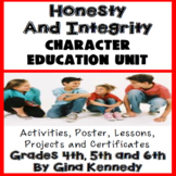 Honesty Character Education Unit, No-Prep Lessons, Activit