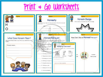 HONESTY Character Education Packet