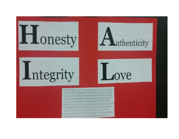 Honesty, Authenticity, Integrity, Love