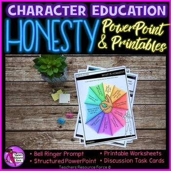 Honesty Lesson: Character Education (PowerPoint, Task Cards & Printables)
