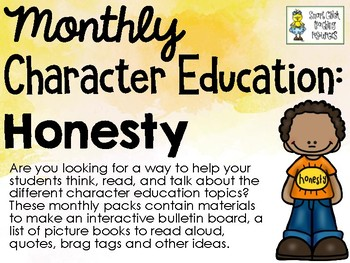 Honesty - Monthly Character Education Pack