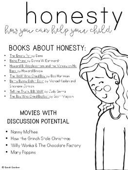 Honesty Parent Letter