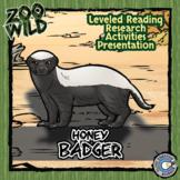 Honey Badger - 15 Zoo Wild Resources - Leveled Reading, Digital INB & Activities