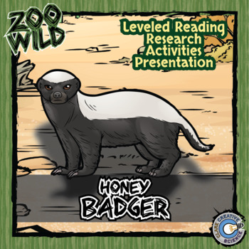 Honey Badger -- 10 Resources -- Coloring Pages, Reading &