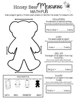 Honey Bear Math Fun - Measuring