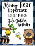 Honey Bear Uppercase Letter Match File Folder Literacy Cen