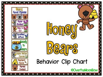 Honey Bears | Behavior Clip Chart