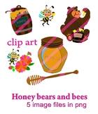 Honey bears and bees FREE