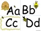Honey Bee Alphabet (Word Wall Tags)