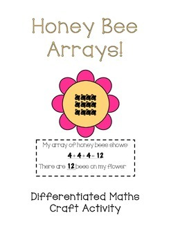 Honey Bee Array Multiplication and Repeated Addition Craft