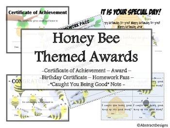 Honey Bee Awards Set