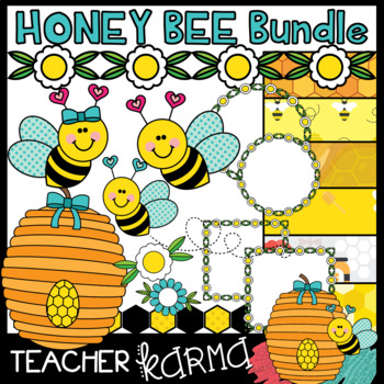 Honey Bee BUNDLE of Clipart