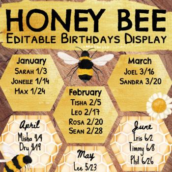 Honey Bee Birthday Display