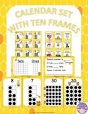Honey Bee Calendar Set With Ten Frames