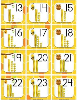 Honey Bee Calendar Set Base Ten Blocks
