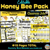 Honey Bee Themed Classroom BIG BUNDLE {All Editable}