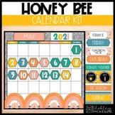 Honey Bee Classroom Decor | Calendar Kit - Editable!