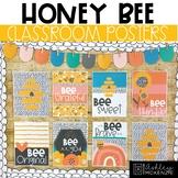 Honey Bee Classroom Decor | Classroom Posters - Editable!