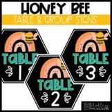 Honey Bee Classroom Decor | Table or Group Signs - Editable!
