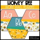 Honey Bee Classroom Decor | Word Wall Headers - Editable!