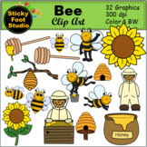 Honey Bee Clip Art (32 Graphics)