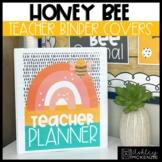 Honey Bee Decor | Teacher Planner | Teacher Binder Covers