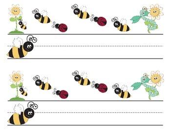 Honey Bee Ladybug Nameplates for Desks