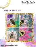 Honey Bee Life Art Project