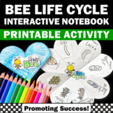 Honey Bee Life Cycle Book, Science Interactive Notebook Craftivity