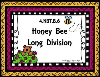 Honey Bee Long Division {Math Game}