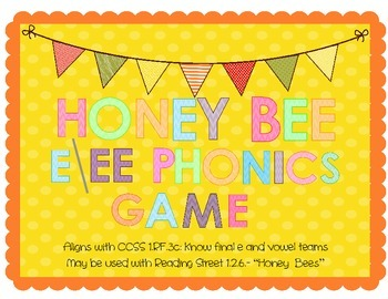 Honey Bee Long & Silent E/EE Phonics Game