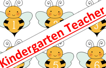 Honey Bee Math Center 1-10 Number Identification