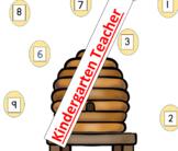 Honey Bee Math Center 1-10 Number Identification