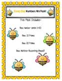 Honey Bee Numbers Mini Pack for PreK & K