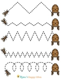 Honey Bee Pre-Writing & Writing Worksheets