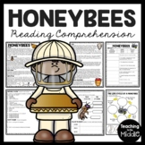 Honey Bee Reading Comprehension Worksheet and Life Cycle of a Honeybee