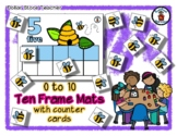 Honey Bee - Spring - Ten Frame Mats 0 to 10 & Counter Cards