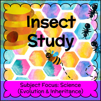 Insect Study - Insect Adaptations FREEBIE!