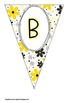 Honey Bee Yellow and Black Buntings- Customize Your Own Banner!